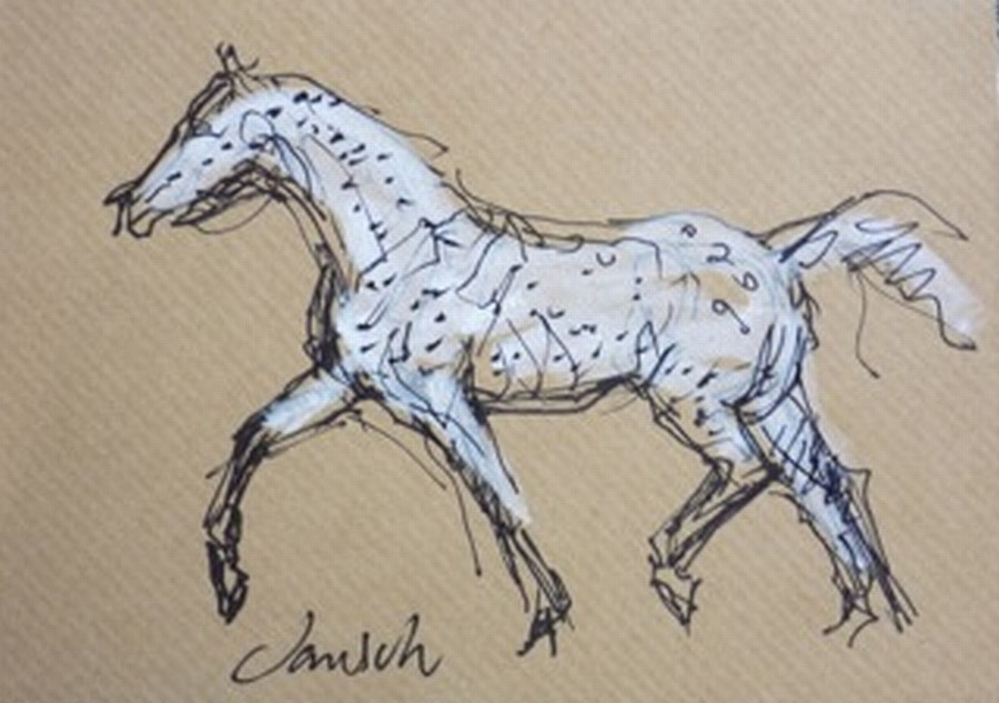Heather Jansch, Spotify 2014, Ink on Acid Free Paper