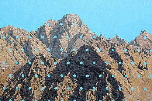 David Pirrie, Mt. Moran, SW 2014, Oil on Canvas