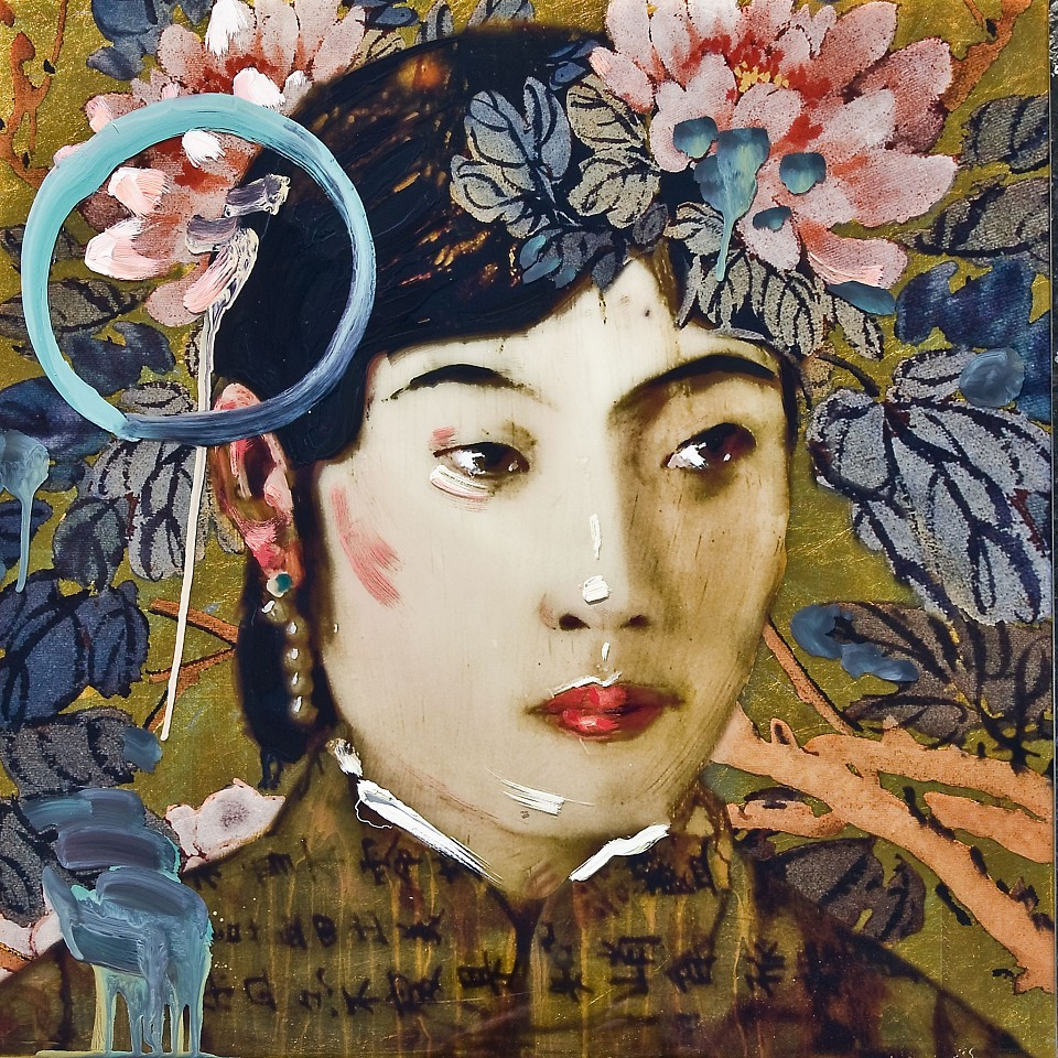 Hung Liu, Last Empress Wanrong V Mixed Media