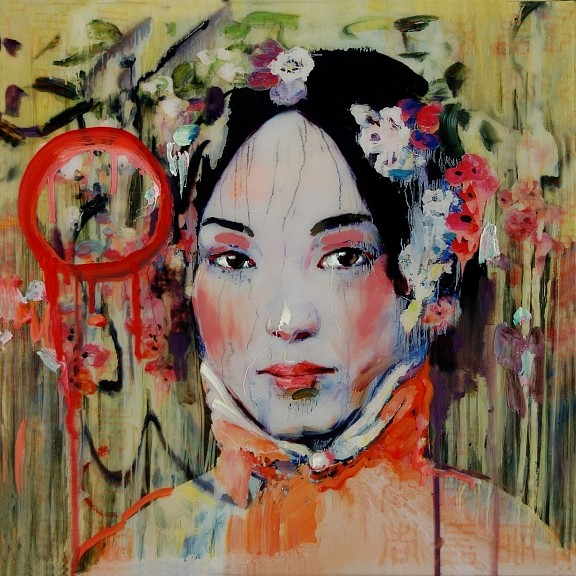 Hung Liu, Summertime (Teng Luo) Ed. 2/9 2011, Mixed Media on Panel