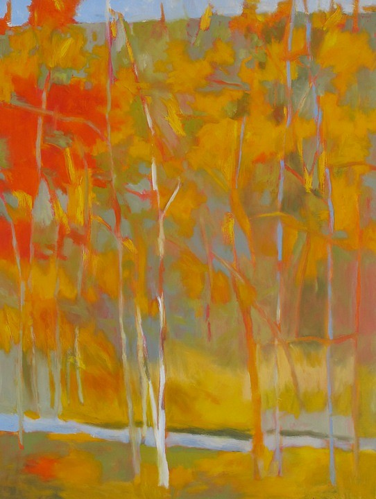 Marshall Noice, Leaves Falling Oil on Canvas