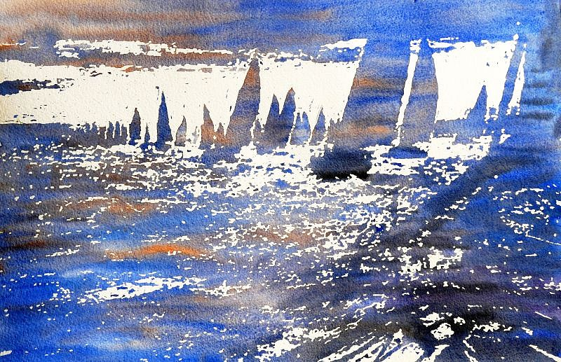 Jeremy Houghton, Flotilla Watercolor