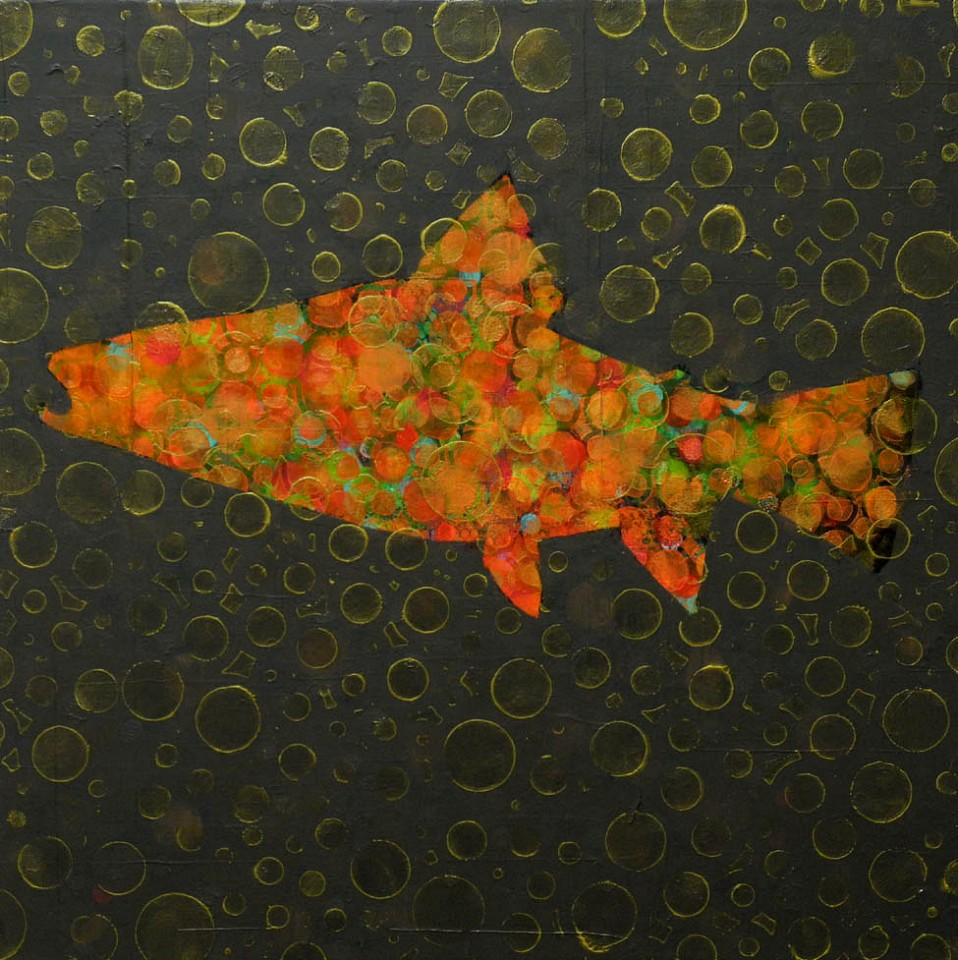 Les Thomas, Trout Painting # 016-1373 2015, Oil on Canvas