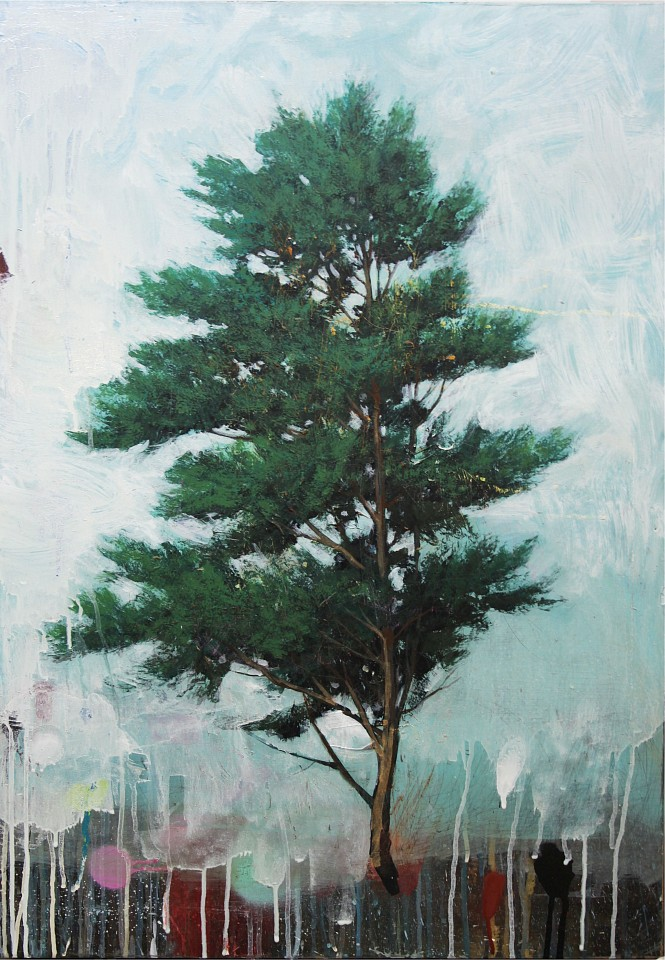 Peter Hoffer, English Pine 2016, Acrylic, Oil and Epoxy on Panel