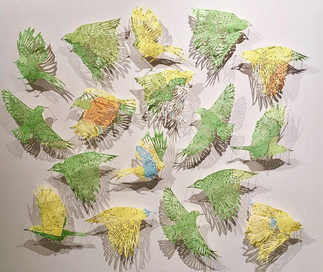 Claire Brewster, Green Grass of Home I 2018, Yellowstone Park Geological Survey map