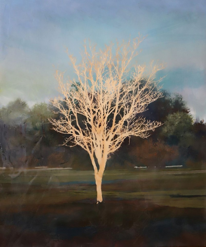 Peter Hoffer, Tree 2018, Oil, Acrylic and Resin on Panel
