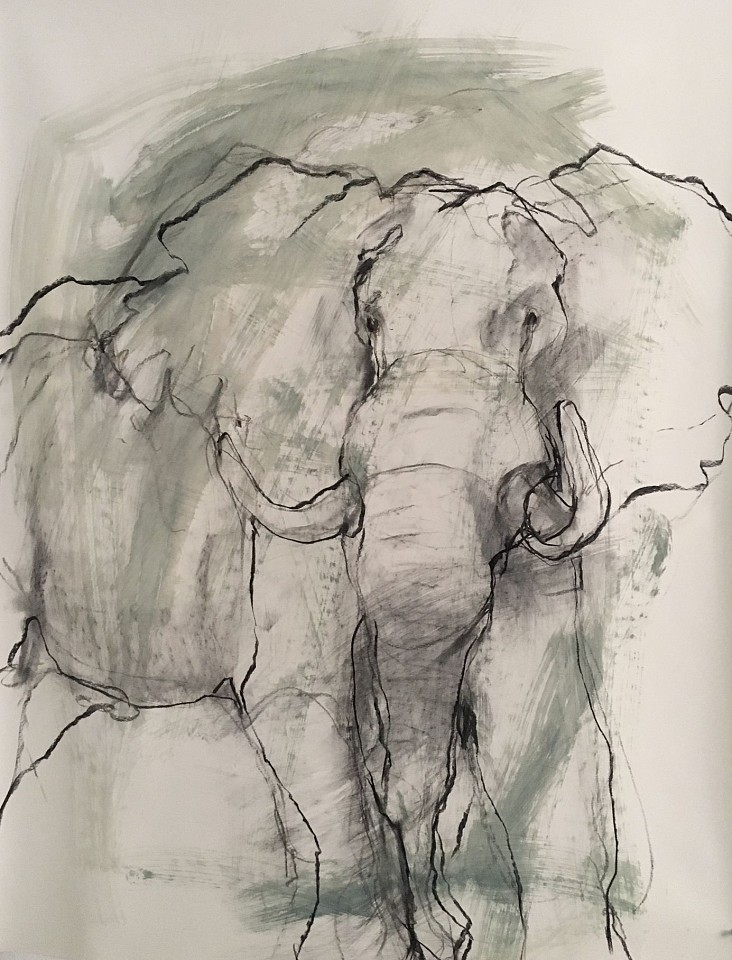 Helen Durant, Standing Ground 2018, Charcoal on Paper