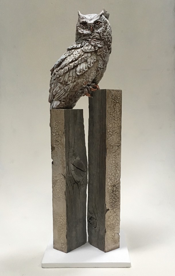 Chris Reilly, Subarctic Great Horned Owl Mixed Media