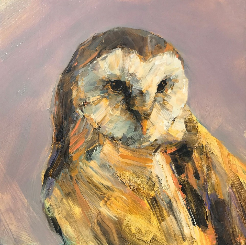 Angie Renfro, Barn Owl Oil on Board