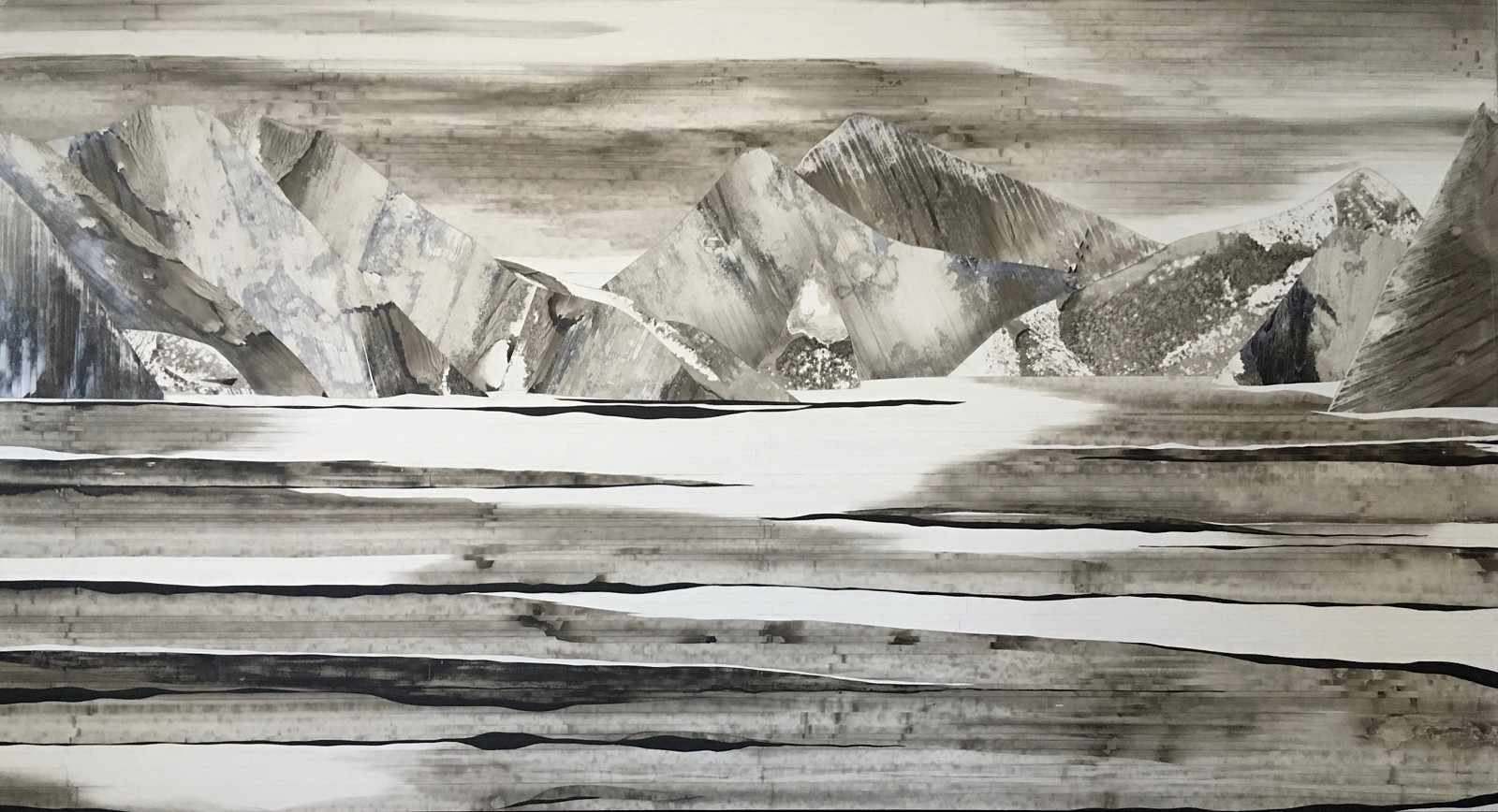 Anastasia Kimmett, Rock and Water Mixed Media