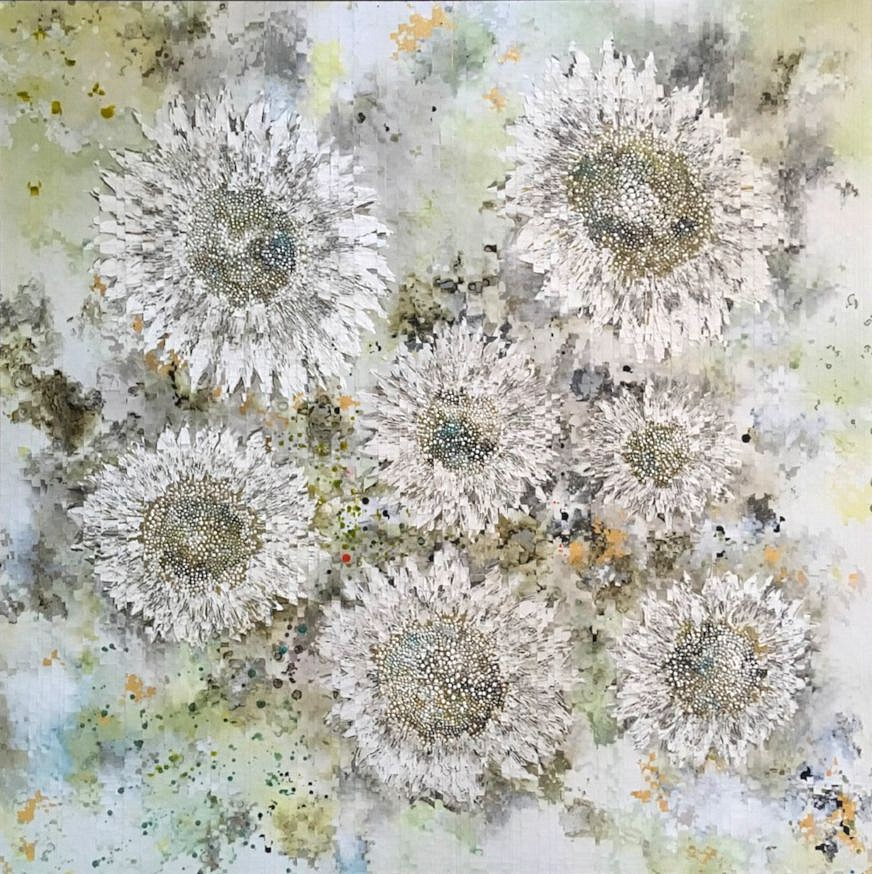 Anastasia Kimmett, Sunflowers Mixed Media